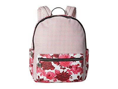 Betsey Johnson Mixing It Up Large PVC Backpack (Pink) Backpack Bags