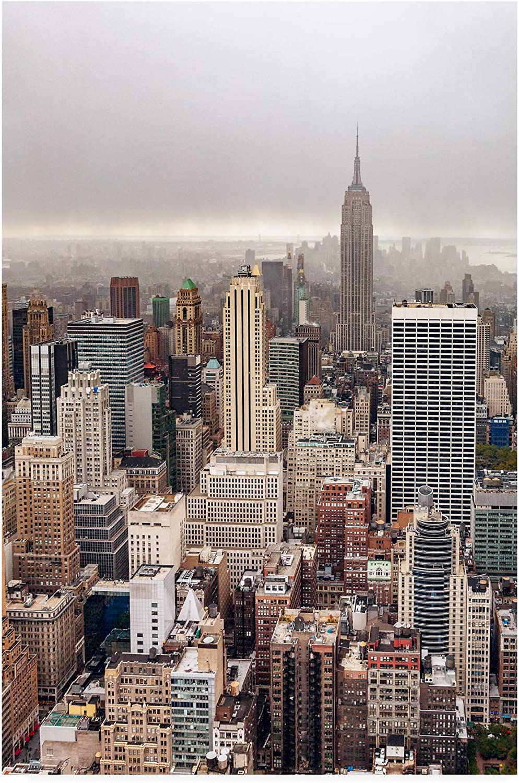 Trademark Fine Art 1X10193C1219GG Foggy Day in Manhattan by Par Soderman, 12x19, Multiple