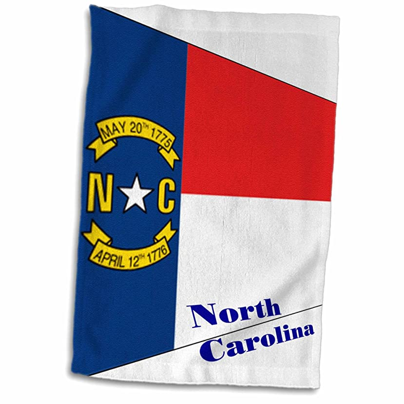 ほこり闘争接地3dローズ印刷のNorth Carolina Flag in Contemporary TWL 203880?_ 1タオル、15?