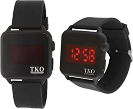 Faceless Touch Screen LED Digital Black Square Case Rubber Sports Cool Easy to Read Big Number Watch