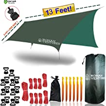 13 Foot Rain Fly for Hammock –Light Weight, Diamond-Ripstop Polyester, Hammock Rainfly- 2000 PU Backpacking Tarp, Waterproof Eno Rain Cover– Rainfly Tent Tarp