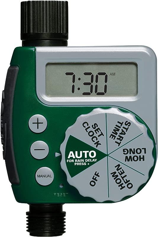 Orbit 62061Z 1 Outlet Programmable Hose Faucet Timer Green