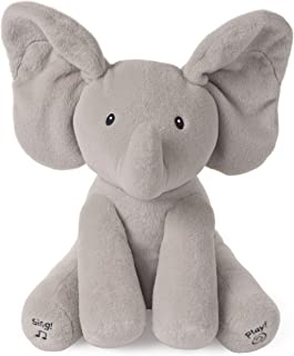 GUND Baby Animated Flappy The Elephant Stuffed Animal Plush, Gray, 12