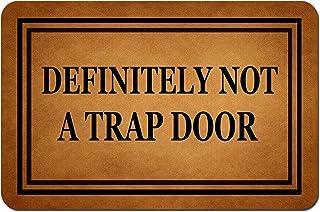 MOMOBO Funny Doormat with Rubber Back -Definitely Not A Trap Door Door Mat Entrance Way Doormat Non Slip Backing Funny Doo...