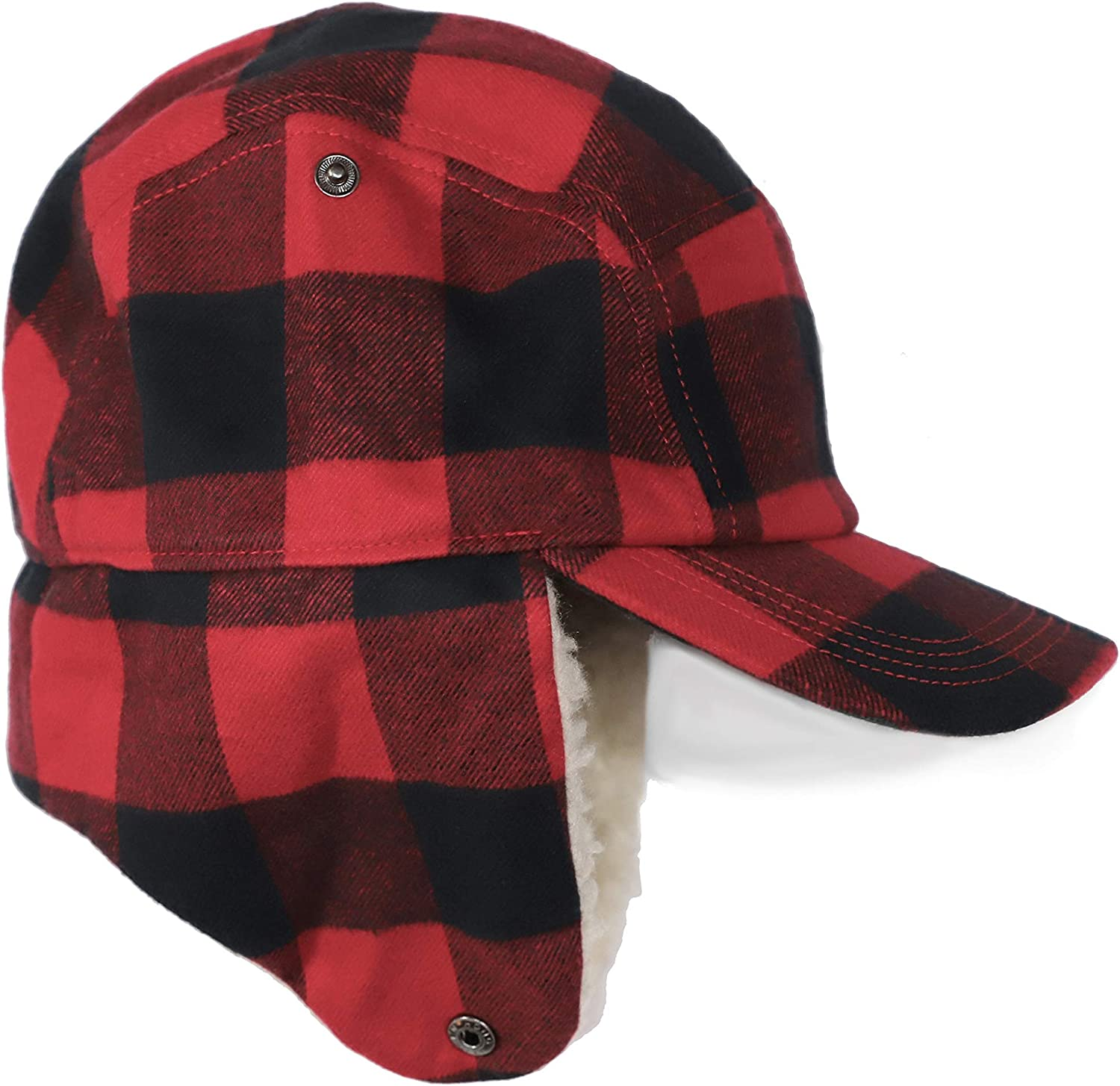 Red sherpa hat