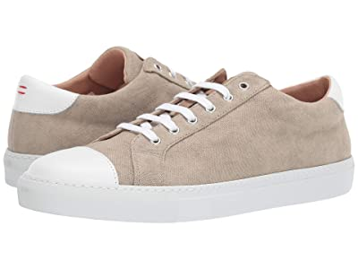 eleventy Cotton Canvas Lace-Up Sneaker (Sand) Men