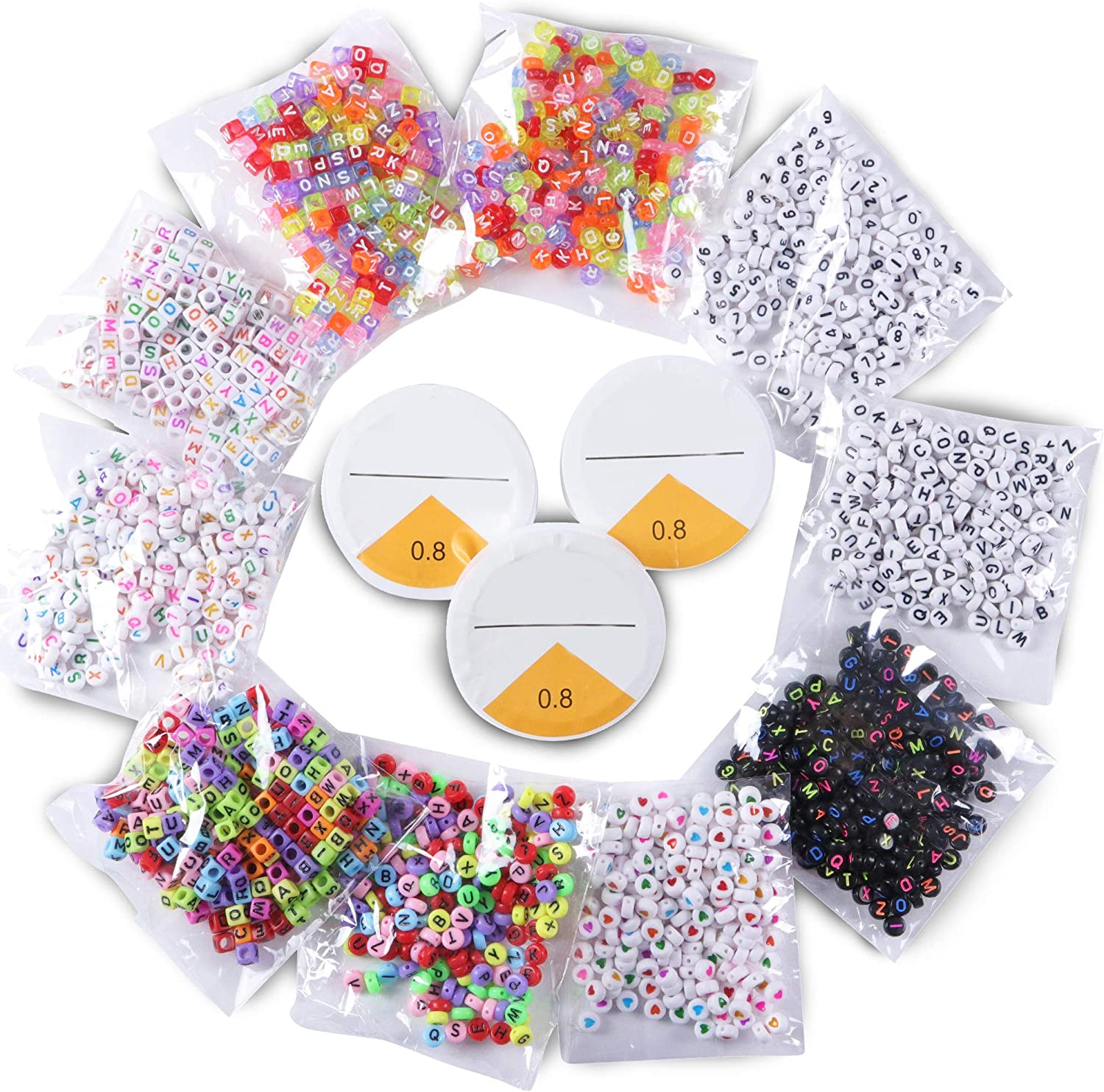 2000 pcs Max 40% OFF 10 Stylist Acrylic Alphabet Letter Cubes Pony Beads wit Manufacturer direct delivery