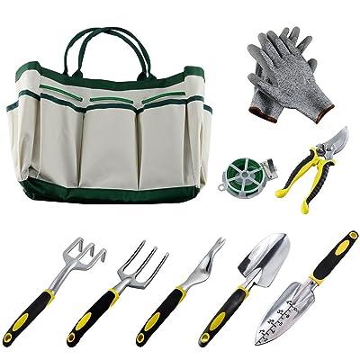 slashome 9PCS Garden Tool Set, Practical Alumin...