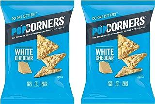 PopCorners PopCorn Snack Chips Pack of 2 5oz Bags (White Cheddar PopCorners)