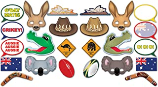 Beistle 54953, 24 Piece Australian Photo Fun Signs, 6.5