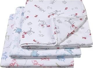 Trend Lab Dr. Seuss Muslin Swaddle Blanket 3 Piece, Blue/Green/Gray/White