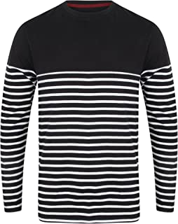 Front Row Mens Long Sleeve Breton Stripe T-Shirt
