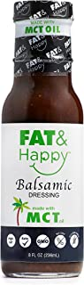 FAT & Happy Balsamic Dressing, Keto, MCT oil, Vegan, Gluten Free, Non-GMO, 8oz