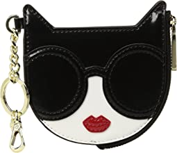 Alice + Olivia - Evy Stace Cat Zip Pouch with Key Charm