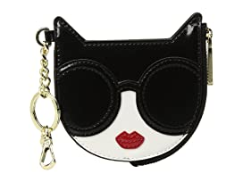 Evy Stace Cat Zip Pouch with Key Charm