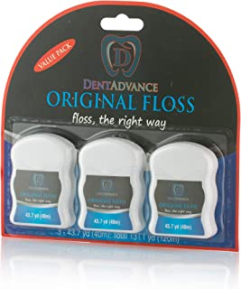 DentAdvance Premium Unwaxed Dental Floss, 40 M, Pack of 3