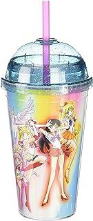 "Sailor Moon OFFICIAL ""Planetary Defenders"" + Sailor Chibi PREMIUM Tumbler Travel Cup,16oz(BPA-Free)"