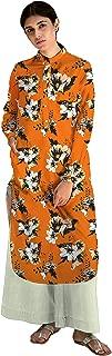 RADANYA Stylish Floral Print Full Sleeve Cotton Kurti/Kurta for Women & Girls