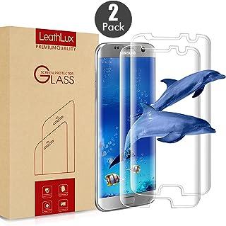 Leathlux [2-Unidades] Protector de Pantalla para Samsung Galaxy S7 Edge, [2-Pack] Anti-Golpes Cristal Vidrio Templado Premium Anti-Huella 3D Touch para Galaxy S7 Edge [Dureza de Grado 9H]