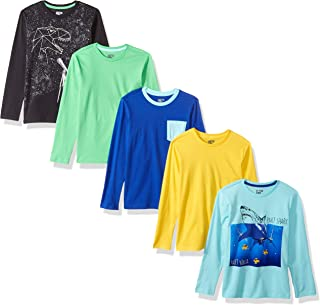 Spotted Zebra Boys' 5-pack Long-sleeve T-shirts