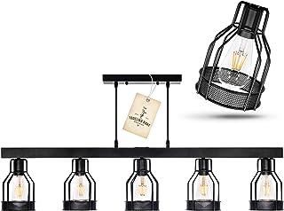 Black Farmhouse Chandelier – Pendant Lighting for Kitchen...