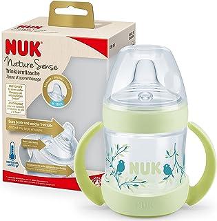 NUK Nature Sense drickflaska   6–18 månader   150 ml   Temperaturkontroll display   Med ergonomiska handtag och anti-kolik...