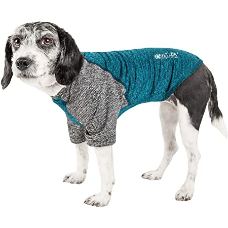 Pet Life Active 'Hybreed' 4-Way Stretch Two-Toned Performance Dog T-Shirt