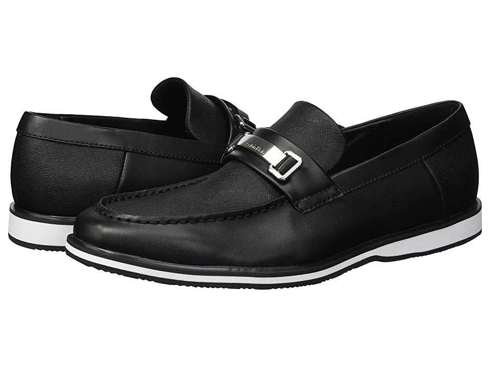 Calvin Klein Wheeler (Black Brushed Leather/Saffiano) Men