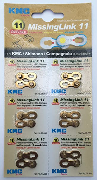 11 Speed Reusable 6 Pairs Bundle Value Pack 9 7 8 10 KMC Missing Link 6