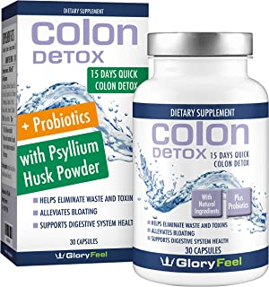 Colon Cleanse Detox for Weight Loss with Probiotics for Constipation Relief. 15 Day Extra-Strength Cleanse Supplement for Women and Men