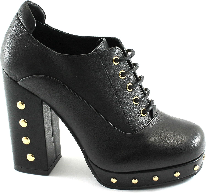 CAF schwarz Schwarze Schuhe schnürt Ferse Leder Brogues MF213-Buchse Bolzen 39