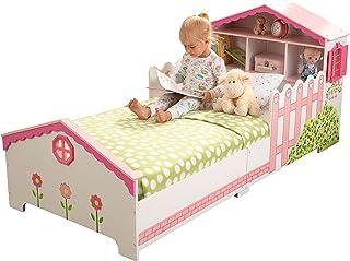 KidKarft  Cama infantil con diseño casa de muñecas con marco de madera, muebles para dormitorio de niños, , 76255