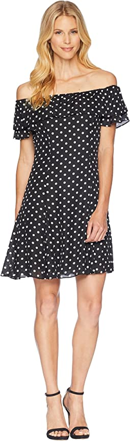 Convertible Dot Dress