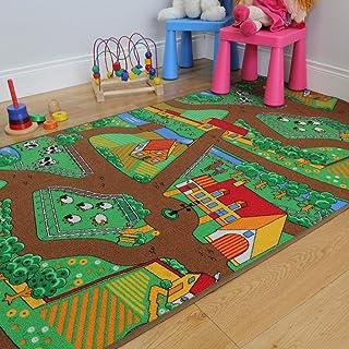 The Rug House Divertida Alfombra para niños, con Animales,