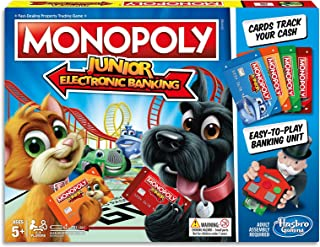 Monopoly Junior - Electronic Banking - 2 to 4 Players - Kids Board Games and Toys - Ages 5+