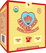 Rooibos Tea Organic Tagless Teabags - 80 Non GMO Naturally Caffeine Free South African Red Bush Herbal Tea Bags By Rooibos Rocks - USDA Organic Rooibos Teas, A Taste of Africa - Feel the Goodness