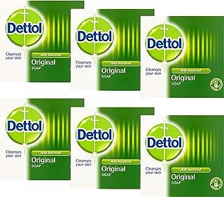 Dettol Original Antibacterial Soap, 3.5 Ounce/100 gr (Pack of 6)