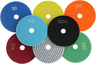 Konfor 4 Inch Diamond Wet Polishing Pads 7 Pcs Set