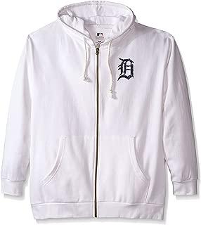 MLB Detroit Tigers Women's Plus Size Zip Hood with Logo, 2X, White