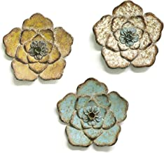 Stratton Home Decor Set of 3 Rustic Flower Wall Decor W X 1.00 D X 8.25 H, Multi