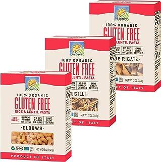 Bionaturae Elbows Gluten-Free Pasta | Fusilli Gluten-Free Pasta | Penne Rigate Gluten-Free Pasta | Rice & Lentil Pasta | N...