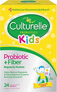 Culturelle Kids Regularity Probiotic & Fiber Dietary Supplement | Helps Restore Regularity & Keeps Kids' Digestive Systems...