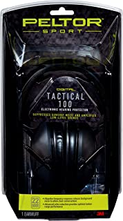 Peltor Sport Tactical 100 Electronic Hearing Protector, Ear Protection, NRR 22 dB, Ideal for the Range, Shooting and Hunti...
