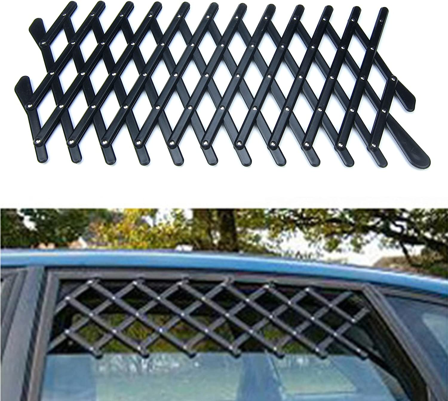 Alfie Pet by Petoga Couture  ASA Car Windows Safety Gate for Pet  Size  Large