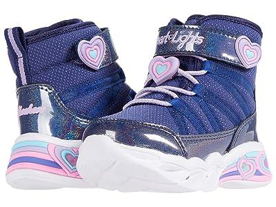 SKECHERS KIDS Sweetheart Lights Cutie Boots 302661N (Toddler) (Navy/Lavender) Girls Shoes