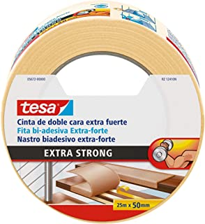 Tesa 05672-00000-00 Cinta doble cara Extra fuerte 25m x 50mm beige