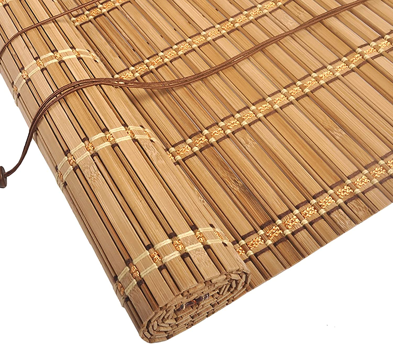 uxhbla sale Light Filering Roller Blinds Chicago Mall Slat Natural Bamboo Weave