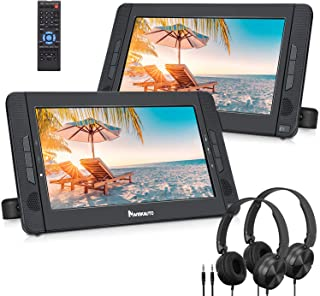 """NAVISKAUTO 10.5"""" Dual Screen DVD Player with HDMI Input, Portable DVD Player for Car with Headphones and 5-Hour Rechargeab..."""