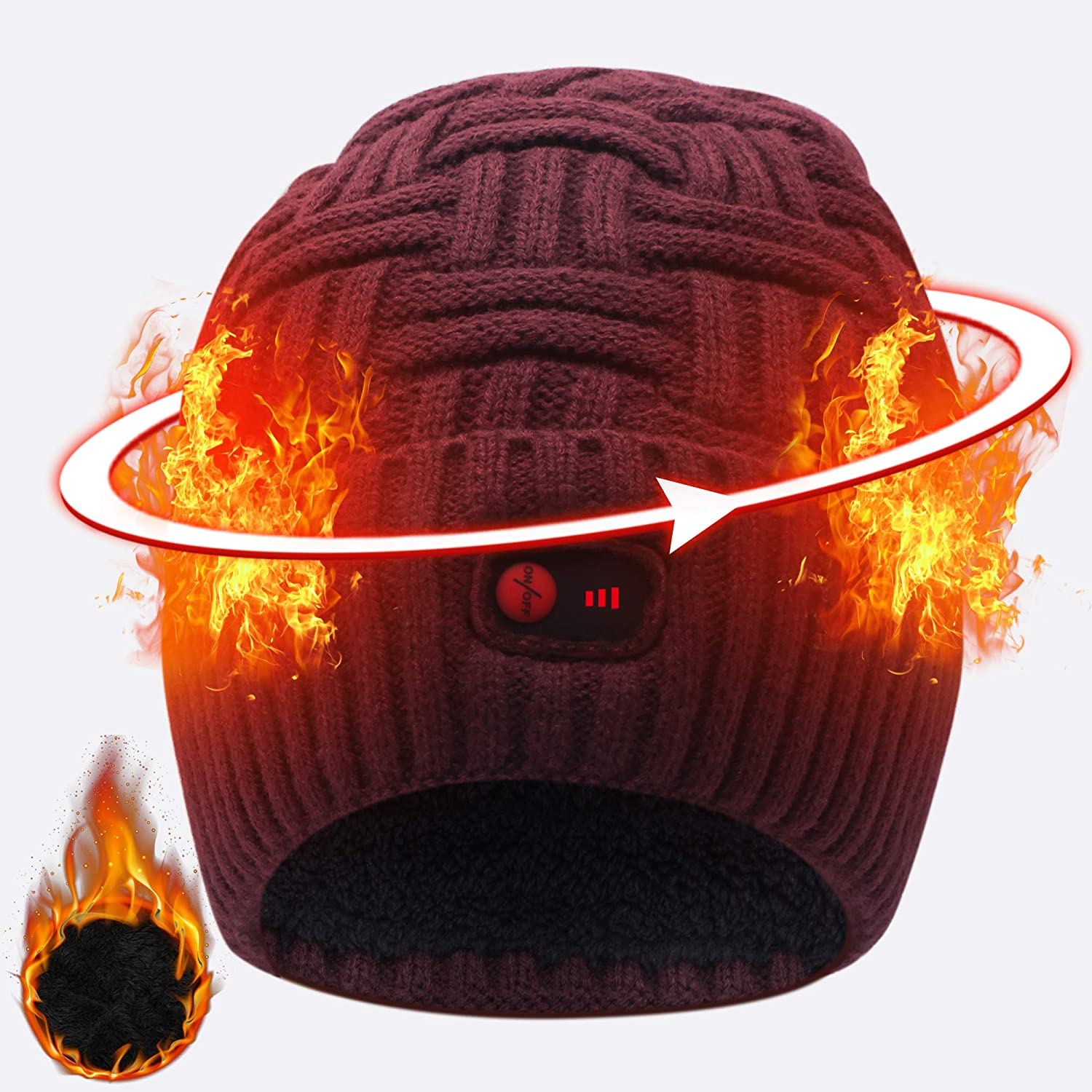 Svpro Battery Heated Beanie Hat Popularity Win Warm Rechargeable New product