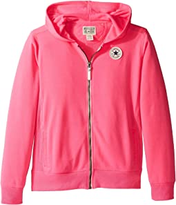 Converse Kids - CTP Rib Panel Front Zip (Big Kids)